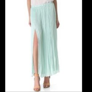 Club Monaco Adela pleated skirt, mint colour